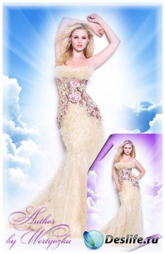 Очаровательная блондинка в роскошном вечернем платье - Костюмы для фотошопа