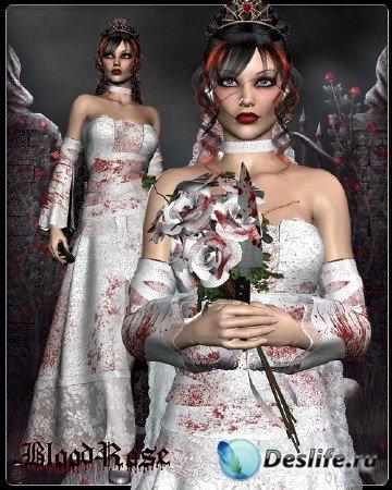 Для программ Poser, Carrara и Daz Studio-Lysithea Bride V4 A4 G4