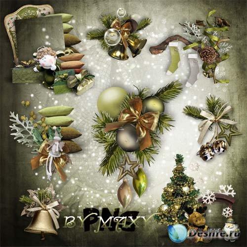 Клипарт рамки-вырезы, кластеры - Новогодние подарки