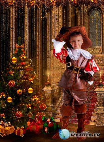 Костюм для фотошопа - Мальчик в костюме мушкетера