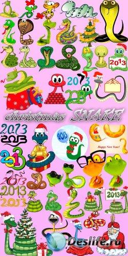 Скрап набор - Рождественские ЗМЕИ 2013