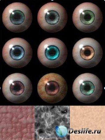 Человеческие Глаза и Кожа в 3D