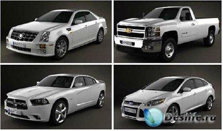 Коллекция 3d моделей автомобилей