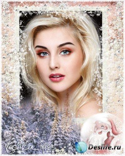 Новогодняя рамка - Зимний лес