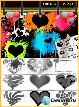 Кисти для Photoshop - День Святого Валентина
