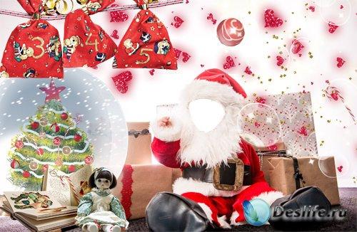 Детский костюм для фотшопа - Маленький Санта
