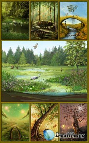 Фоны - Волшебный лес
