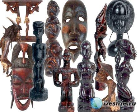Клипарт - Африканские маски и фигурки