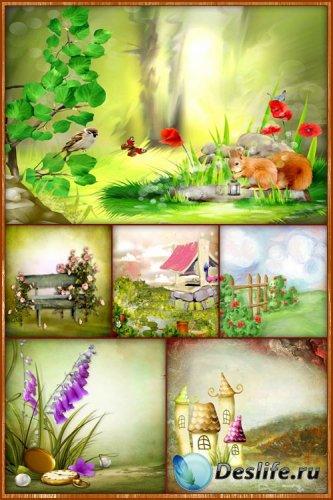 Сборник детских фонов 2