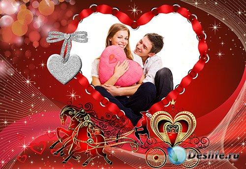 Фото рамка, блики для влюблённых