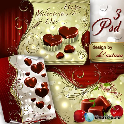 PSD исходники - Этот сладкий праздник - День Валентина