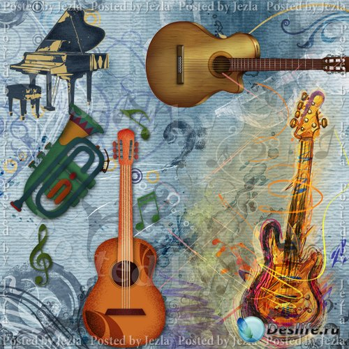 PSD Исходники - Музыка и Инструменты (Music)