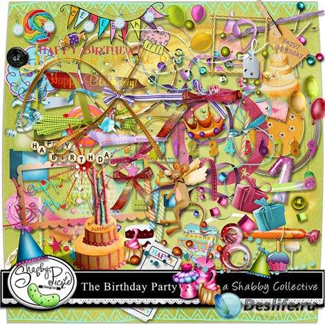 Скрап набор - Вечеринка по случаю дня рождения