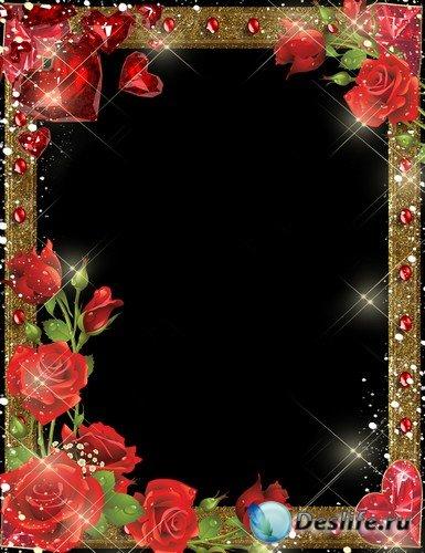 Рамка для фото –  Незабываемые алые розы
