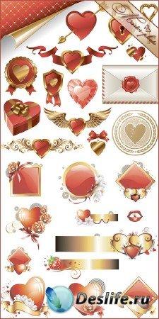PSD исходник для работы в фотошопе - Валентинов день