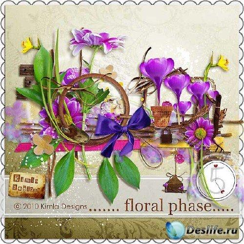 Симпатичный цветочный скрап-набор - Цветочная фаза