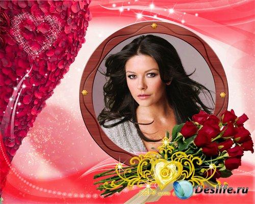 Фоторамка Розы для любимой