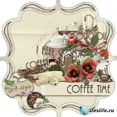 Интересный скрап-набор для ценителей кофе - Время кофе