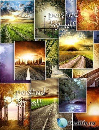 Красивые пейзажи - набор фонов