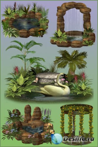 Клипарт PNG - Волшебные пруды