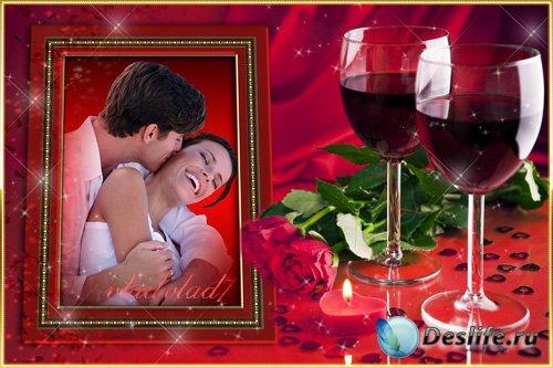 Романтическая рамка для Photoshop - Вечер только для двоих