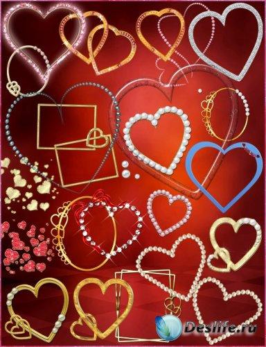 Рамки-вырезы - Сердца