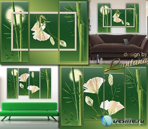 Полиптихи в PSD - Ветка бамбука