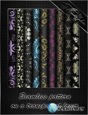 Декоративые узоры/patterns на прозрачном фоне