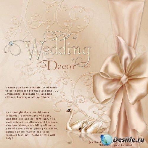 Свадебный скрап-набор - Свадебный декор