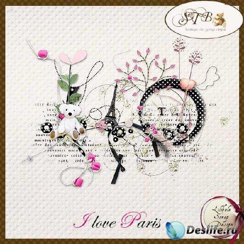 Романтический скрап-набор - Я люблю Париж