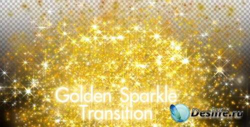 Футаж - Переход: Golden Sparkle Transition