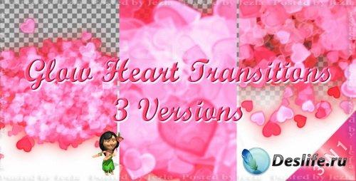 Видео-переход: Pink Glow Transitions