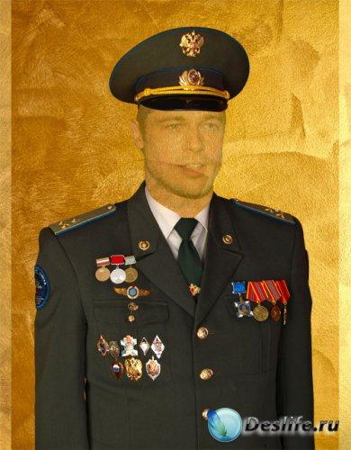 Мужской костюм для фотошопа - Полковник в военной форме