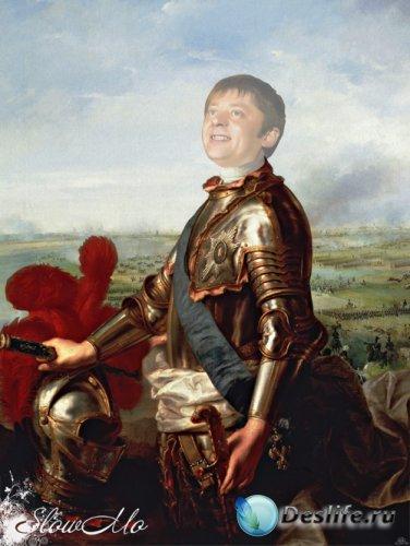 Мужской костюм для фотошопа - Портрет рыцаря в доспехах