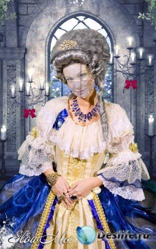 Женский костюм для фотошопа - Роскошное платье