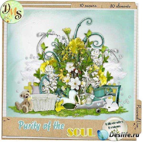 Весенний цветочный скрап-набор - Духовная чистота