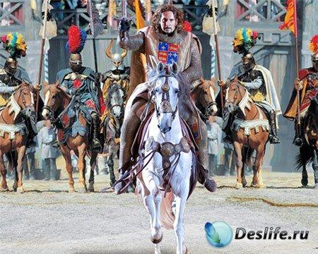 Костюм мужской - Рыцарь на белом коне