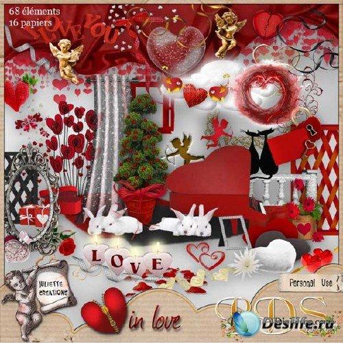 Романтический скрап-набор - Любящее сердце