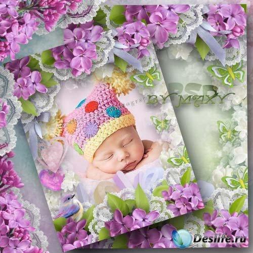 Фоторамка для детских фото - Трогательные мгновения