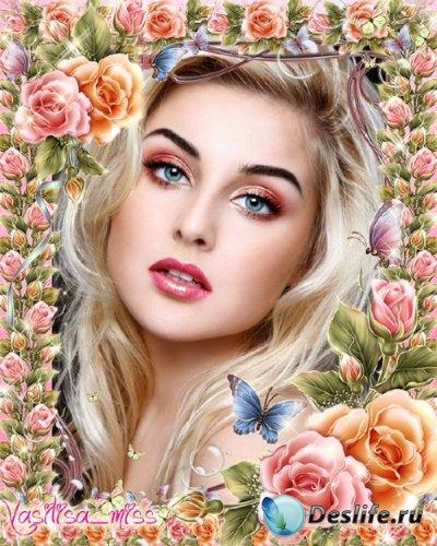 Цветочная рамка - Розы, розы, розы