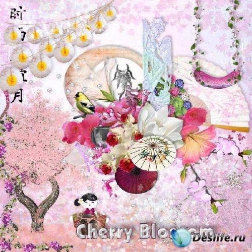 Скрап-набор в восточном стиле - Вишневый цвет
