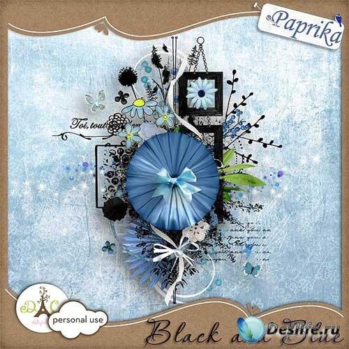 Чарующий скрап-набор - Чёрный и голубой