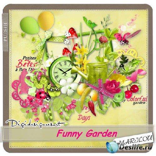 Цифровой скрап-набор - Забавный сад