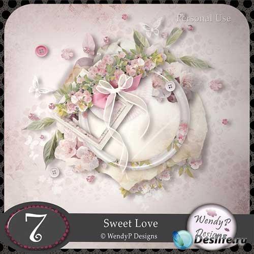 Романтический скрап-набор - Сладкая любовь