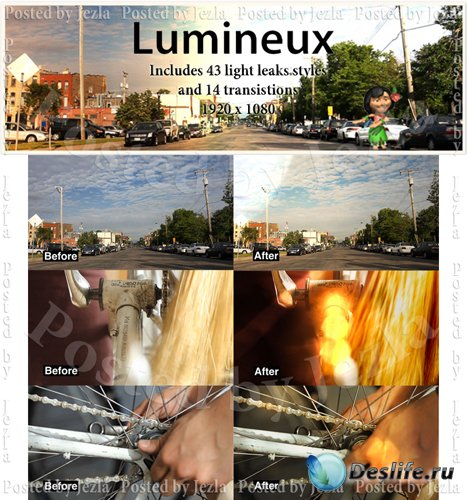Футажи: Lumineux (CrumplePop)
