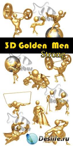 3D gold men - Strong / Золотые человечки 3D - Сила