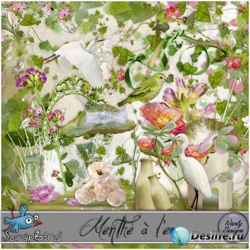 Цветочный скрап-набор - Мятный аромат