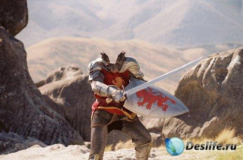 Мужской костюм - рыцарь с щитом и мечом