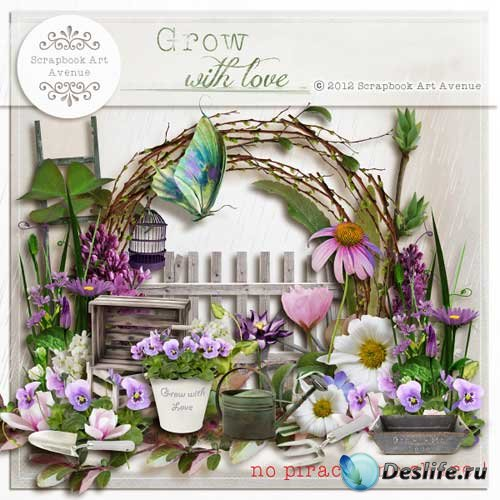 Весенний скрап-набор - Растущие с любовью