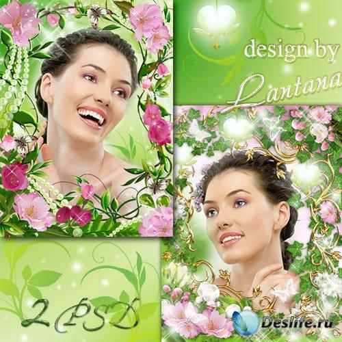Рамочки - Яблони в цвету - весны творенье